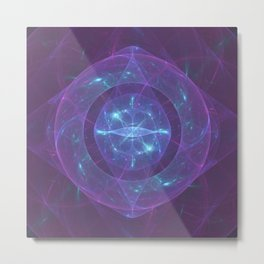 Blue Eye of the Purple Dragon Metal Print