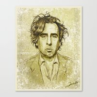 tim burton Canvas Prints featuring Tim Burton by Renato Cunha