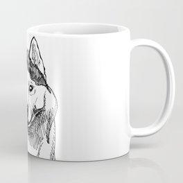 Siberian Husky Portrait Coffee Mug