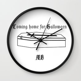 Coming home for Halloween_invers Wall Clock
