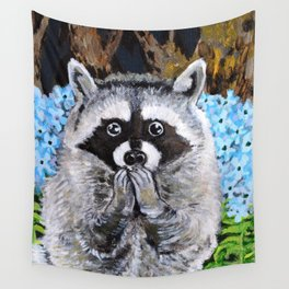 Mischief the Raccoon Wall Tapestry