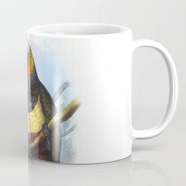 Masséna Kaka Parrot, tropical bird in the nature of New Zealand Coffee Mug