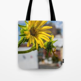 Yellow Flower in NYC Tote Bag