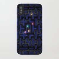 pacman iPhone & iPod Cases featuring Pacman by Foxxya