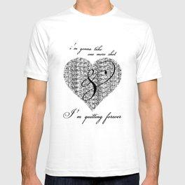 Cross my heart, cross my fingers. T-shirt