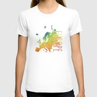europe T-shirts featuring Europe by Stephanie Wittenburg
