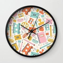 Stationery Love Wall Clock