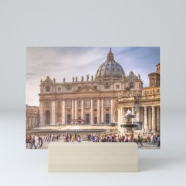 The Papal Basilica of the Saint Peter in the Vatican, Rome Mini Art Print