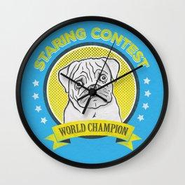 Staring Contest World Champion Wall Clock