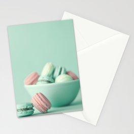 Nostalgic macarons, macaroons Stationery Cards