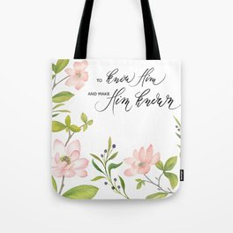 Know Him Tote Bag