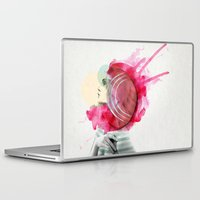 Laptop Skins featuring Bright Pink  by Jenny Liz Rome