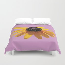 Rudbeckia Purple Duvet Cover