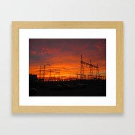 Electricial Sunset Framed Art Print
