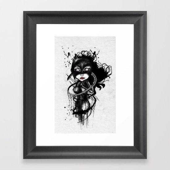 Claw Lynx Framed Art Print