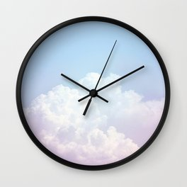 Dreamy Cotton Blue Sky Wall Clock