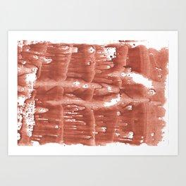 Gently brown wave wash drawing Art Print