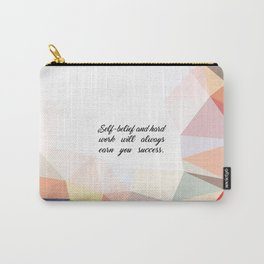 """Self belief and... """"Virat Kohli"""" Inspirational Quote Carry-All Pouch"""