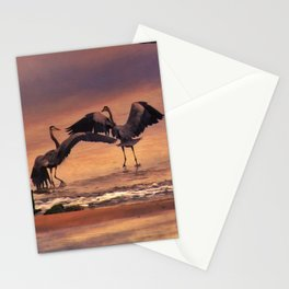 Herons At Sunset Stationery Cards