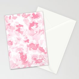 Abstract Flora Millennial Pink Stationery Cards