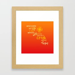 Croak-Orange Framed Art Print