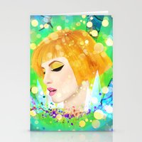 hayley williams Stationery Cards featuring Digital Painting - Hayley Williams by EmmaNixon92