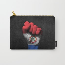 Paraguay Flag on a Raised Clenched Fist Carry-All Pouch