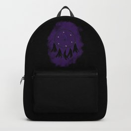 Dreamcatcher crow: Purple background Backpack