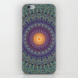 Happy Sun Circle Bohemian Geometric Thread Weave Pattern \\ Yellow Green Blue Purple Color Scheme iPhone Skin