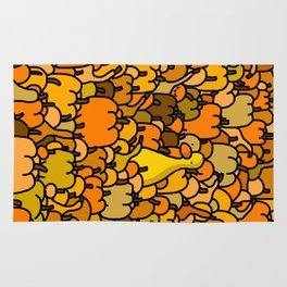 Duck in a Pumpkin Patch Rug