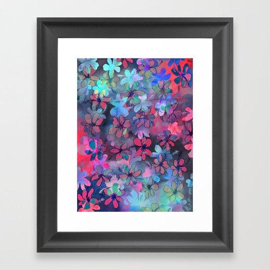 PATTERN {flower dance} Framed Art Print