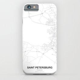 Saint Petersburg, Russia Minimalist Map iPhone Case