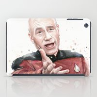 meme iPad Cases featuring Annoyed Picard Meme  by Olechka