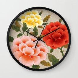 Korea traditional flower art moran Wall Clock