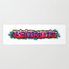 Beat Roots Ole School Graf Art Print