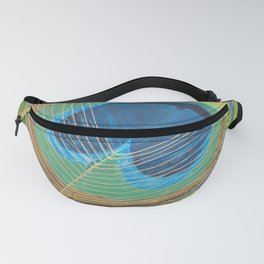 A Peacock feather Fanny Pack