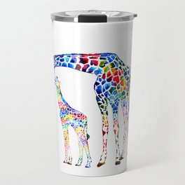Colorful giraffes Travel Mug