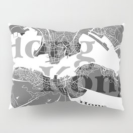 Hong Kong Map Pillow Sham