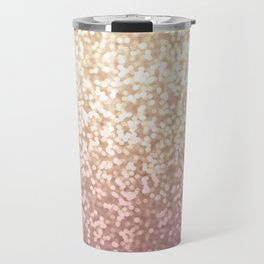 Champagne Gold Blush Pink Glittery Ombre Pattern #society6 Travel Mug