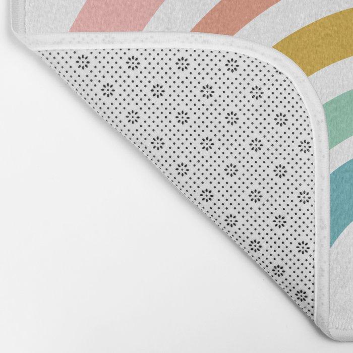 Simple Happy Rainbow Art Bath Mat