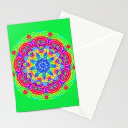 Amazing Day Neon Mandala Stationery Cards