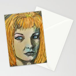 Leeloo Noir Stationery Cards