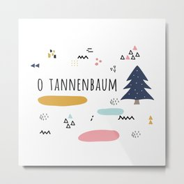 Minimal Holiday Designs :: O Tannenbaum Metal Print