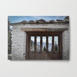 Door to the Mountains (Pueblos Blancos) Metal Print