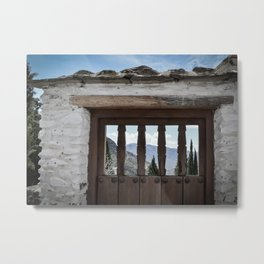 Door to the Mountains (Pueblos Blancos) Metal Print
