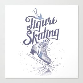 Figure skating Canvas Print