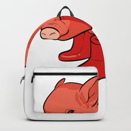 Pig Rainy Day Adventurous and Nature Lover Gift Backpack