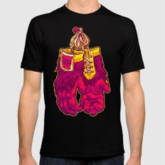 GORILLA GLOVES Black Mens Fitted Tee SMALL