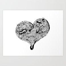 Heartfull Art Print