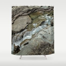 Cutting Through - Glacier NP Shower Curtain
